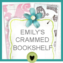 Emily's Crammed Bookshelf Button