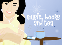 Music Books and Tea Button