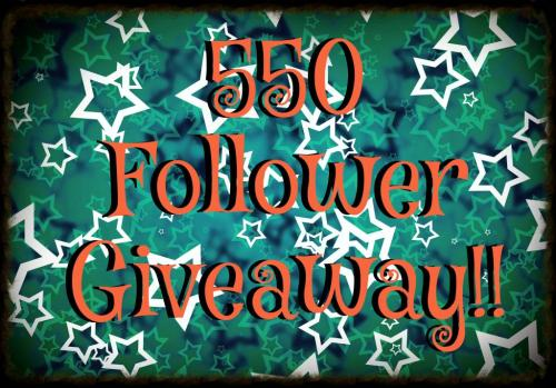 550 Follower Giveaway Button